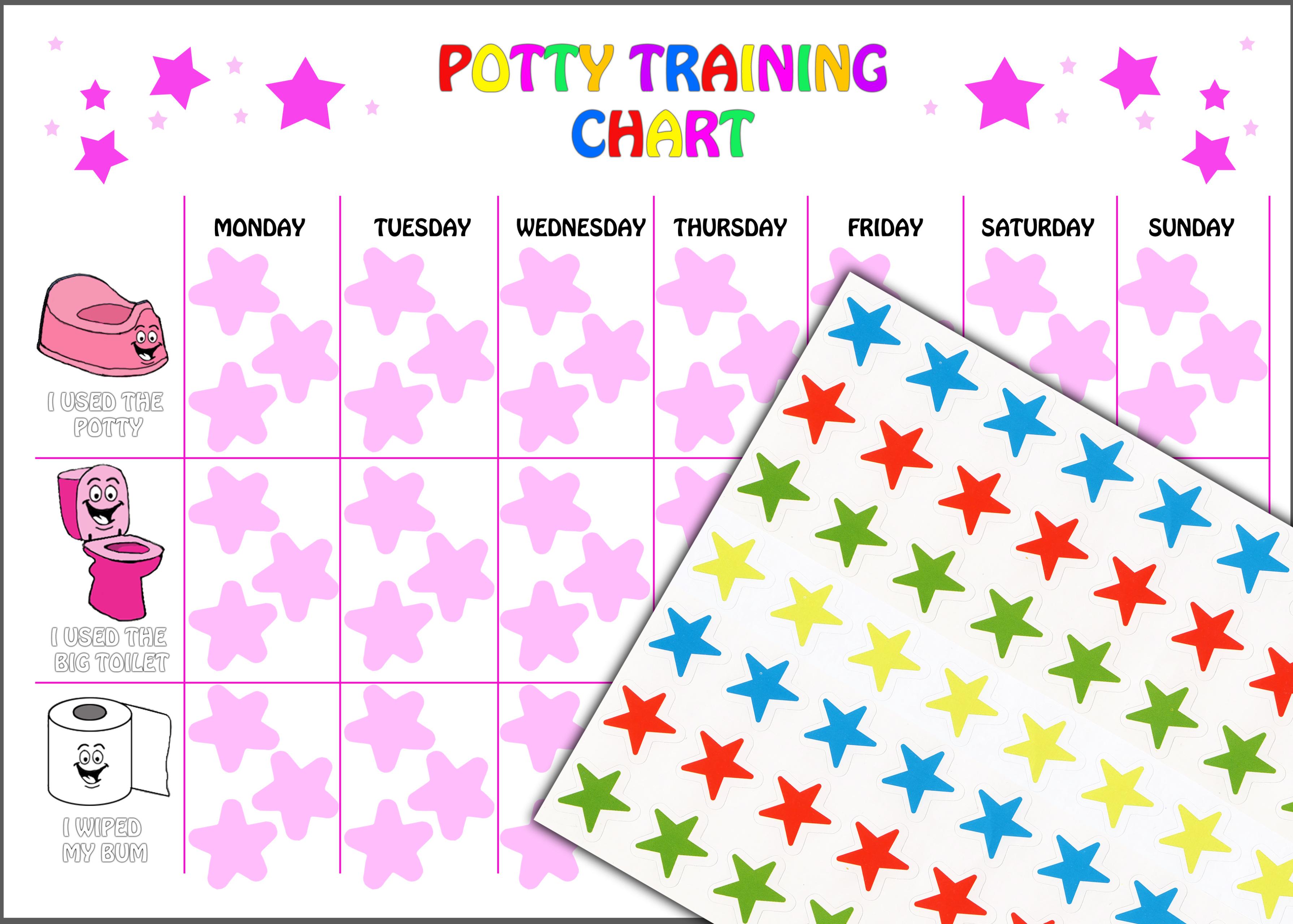 potty training chart for girls